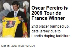 Oscar Pereiro is 2006 Tour de France Winner