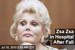 Zsa Zsa in Hospital After Fall