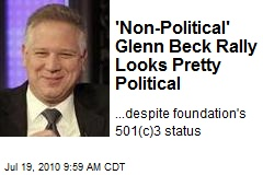 'Non-Political' Glenn Beck Rally Looks Pretty Political