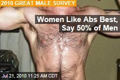 Women Like Abs Best, Say 50% of Men