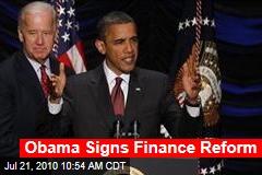 Obama Signs Finance Reform