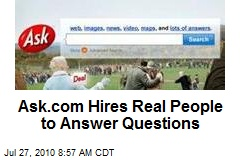 Ask.com Hires Real People to Answer Questions