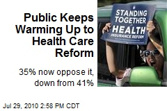 Public Keeps Warming Up to Health Care Reform