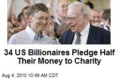 34 US Billionaires Pledge Half Their Money to Charity