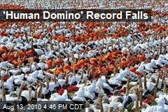 'Human Domino' Record Falls