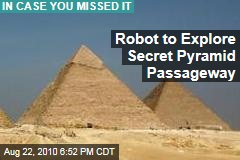 Robot to Explore Secret Pyramid Passageway