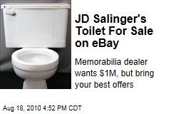 JD Salinger's Toilet For Sale on Ebay