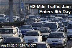 62-Mile Traffic Jam Enters 9th Day