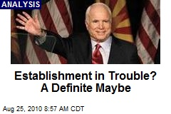 Establishment in Trouble? A Definite Maybe