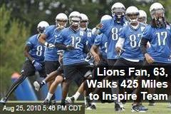 Lions Fan, 63, Walks 425 Miles to Inspire Team