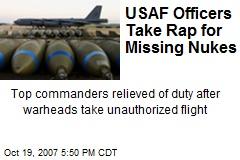 USAF Officers Take Rap for Missing Nukes