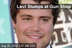 Levi Stumps at Gun Shop