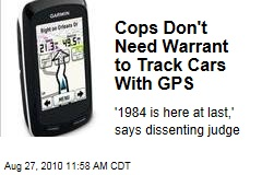 Cops Don't Need Warrant to Track Cars With GPS
