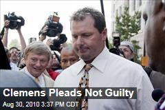 Clemens Pleads Not Guilty