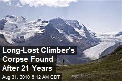 Long-Lost Climber's Corpse Found After 21 Years