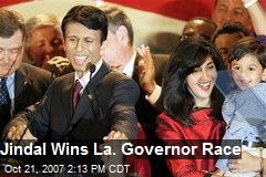Jindal Wins La. Governor Race