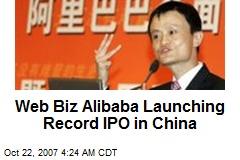 Web Biz Alibaba Launching Record IPO in China