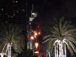 Fire Breaks Out in High-End Dubai Hotel Before Fireworks