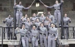 Cadets' Raised-Fist Photo Sparks Anger, Debate