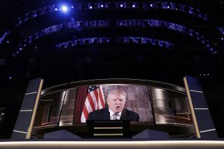 Trump Breaks Tradition, Shows at Convention for Day 2