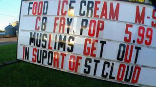 Minn. Restaurant Owner Puts Up 'Muslims Get Out' Sign