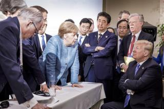 Enduring Image of the G7: Merkel Staring Down Trump | Newser Mobile
