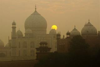 Guards Defend Taj Mahal Visitors With Slingshots