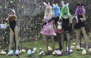 His Playboy Bunny Display Was Attacked. So He Made It Bigger