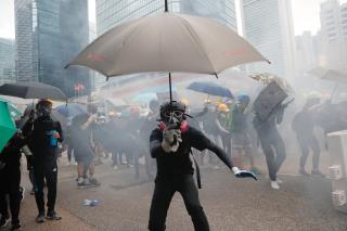 Gasoline Bombs, Fires Mark Hong Kong Protest