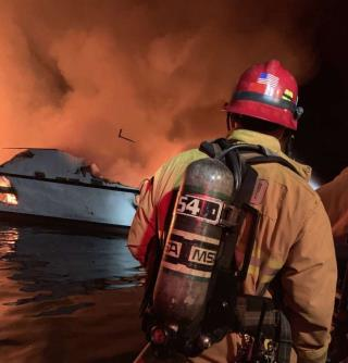 Diving Vessel 'Was Totally Engulfed in Flames'
