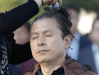 Angry S. Korean Politicians Are Shaving Their Heads
