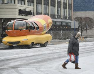 Wienermobile Gets Pulled Over