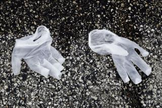 Odd New Danger: Discarded Gloves and Masks