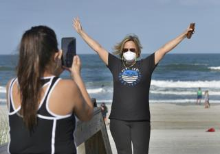 Crowds Flock as Florida Beaches Reopen
