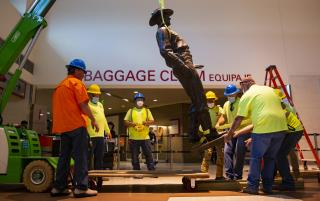Racist Record Brings Down Airport's Texas Ranger Statue