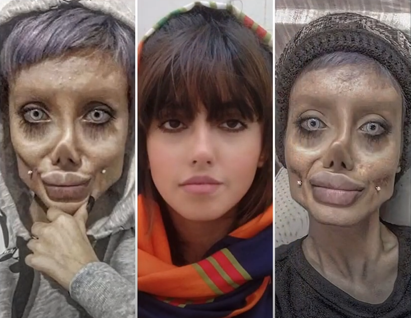 Iranian Instagram star who posted distorted pictures of herself is jailed for 10 years - Tatahfonewsarena