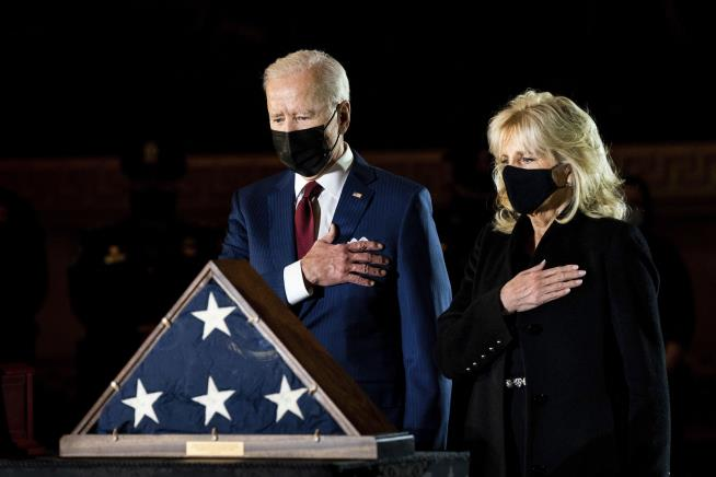 Biden Pays Respects to Slain Capitol Police Officer