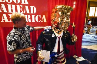 Imported Gold Trump Is for Sale at CPAC