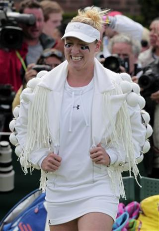 Bethanie Mattek-Sands Wimbledon Jacket: Strange Tennis Ensemble Inspired by Lady Gaga