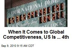 When It Comes to Global Competitiveness, US Is ... 4th