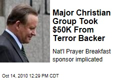 Major Christian Group Took $50K From Terror Backer