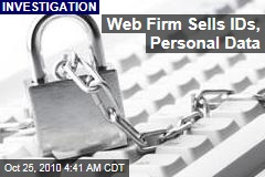 Probe: Web Firm Sells IDs, Personal Data