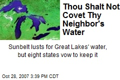 Thou Shalt Not Covet Thy Neighbor's Water