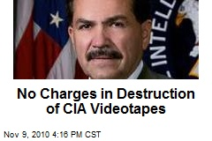 No Charges in Destruction of CIA Videotapes