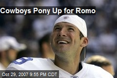 Cowboys Pony Up for Romo