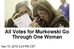 All Votes for Murkowski Go Through One Woman