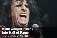 Alice Cooper Rocks Into Hall of Fame