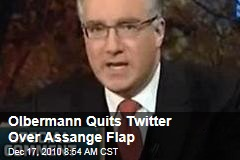 Olbermann Quits Twitter Over Assange Flap