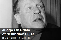 Judge Okays Sale of Schindler's List