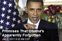 Promises That Obama's Apparently Forgotten